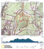 Ramblin' Vewe Farm Hike on Topographical Map