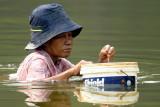 Lady fishing