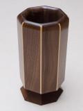 8 1/2 x 4 1/2 inch walnut vase