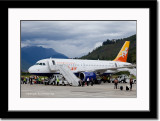 Druk Air Airplane at Paro Airport