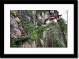 Taktsang from Low Angle Near Waterfall