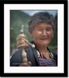 Proud of Her Prayer Wheel