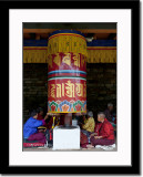 Huge Prayer Wheel at Thimphu Chorten