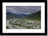 Paro Valley and Paro International Airport in Foreground