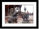 Lion Statue at Durbar Square