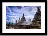 Candi (Temple of) Borobudur, Being Cleaned