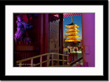 Brightly Lit Pagoda Viewed Through The Second Heavenly Gate