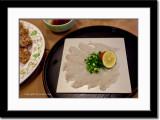 Fugu or Blow Fish Sashimi