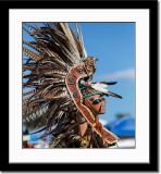 Profile of Aztec Dancer
