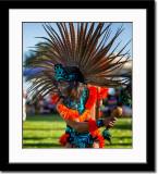 Painted Face Aztec Dancer