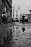 After a hail storm in Milan (the Duomo)