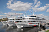 Cruise ships in dock at St Petersburg
