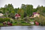 Dachas on the Volga River