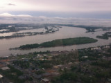 Over City looking at confluence of Ohio and TN rivers