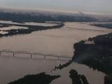 Ohio River looking W with bridges
