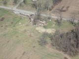 Demolished trailer near Ragland