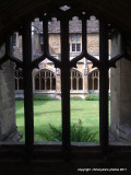 a view through  the cloisters