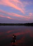 sunset at lake ronkonkoma