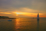sunset at cedar beach
