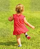 running in the fields