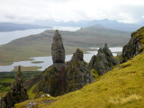 View on the Old Man of Storr from above.