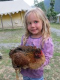 Isabella and the hen