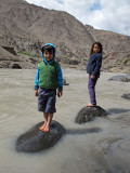 Imran and Sophie in the Indus at Uletokpo