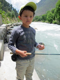 Rahil's first time fly fishing