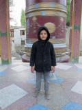 Large prayer wheel in Leh