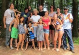 Dad, uncles, aunts, and cousins at Three Lakes