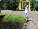 Grandma at the Burnt Rollway boat hoist