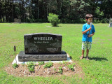 First visit to Grandpa's grave site