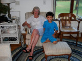 With Grandma, from last month's trip to Wisconsin