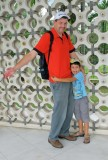 Hugging Dad at the Kuala Lumpur National Independence Monument