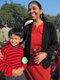 Rahil and Mrs. Seth, his KG teacher