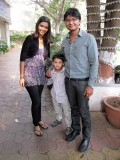 With first cousins Malika and Avya in Bombay