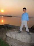 Yamuna sunset.  River exceedingly stinky.