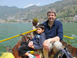 Rahil and Dad boating on Naitial Lake