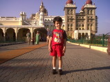 Outside the Mysore Palace