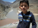 At the confluence of the Indus and Zanskar Rivers