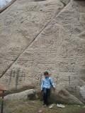 At the 8th century (?) Tathagata rock carvings near Shey