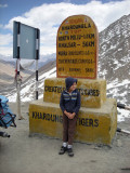Atop Khardungla, almost three-and-a-half miles up