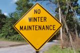 No Winter Maintenance (Fort Indiantown Gap PA)