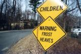 Warning Frost Heaves (Russell MA)