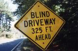 Blind Driveway 325 Ft Ahead (Sunderland, MA)