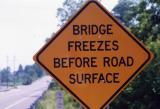 Bridge Freezed Before Road Surface (Hamburg, NJ)