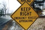 Keep Right Emergency Vehicles Approaching (East Otis, MA)