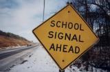 School Signal Ahead (Matamoras, PA)