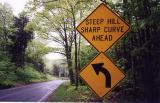 Steep Hill Sharp Curve Ahead (Montgomery, MA)