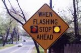 When Flashing Stop Ahead (Springfield, MA)